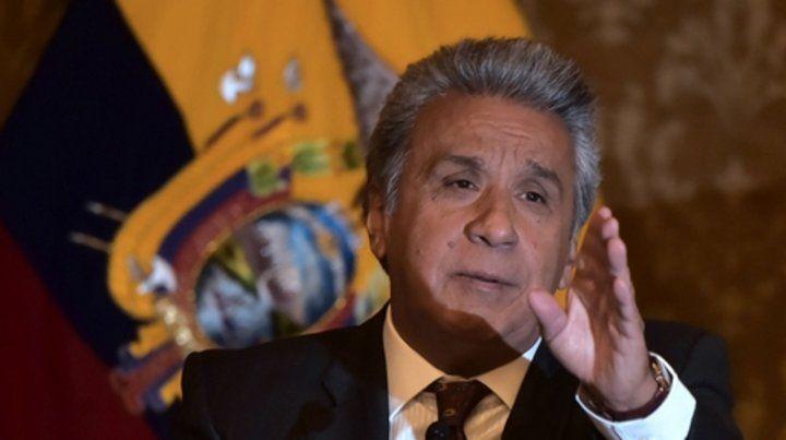 Proceso. Lenín ofreció a Correa garantías de independencia judicial.