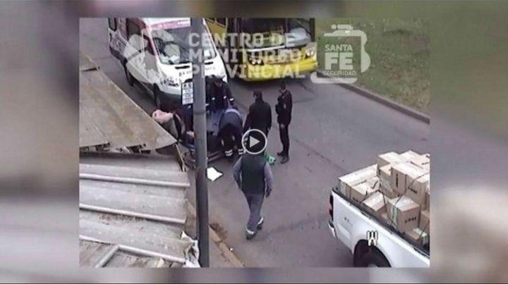 El accidente ocurrió en Seguí y Corrientes.