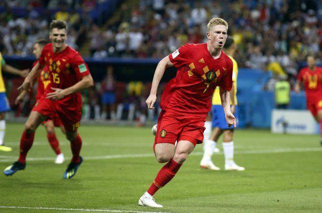 De Bruyne festeja su gol