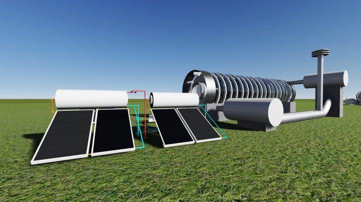 Innovación. El desarrollo emplea colector solar y termotanques solares en serie.
