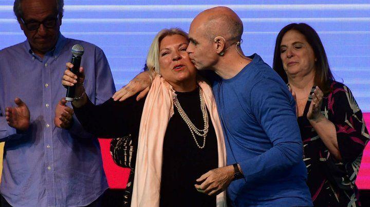 Rodríguez Larreta es el dirigente del PRO que más empatiza con Elisa Carrió. Ayer minimizó el encontronazo con los radicales.