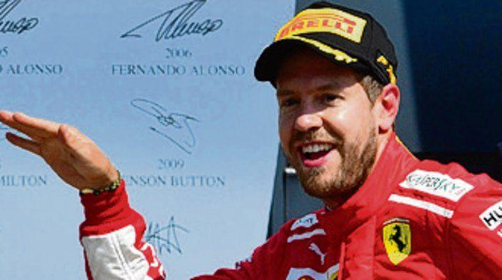Bárbaro. Vettel
