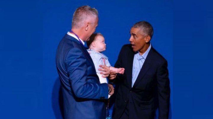 El divertido encuentro entre Obama