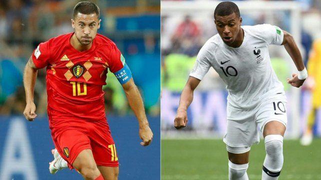 Hazard. El 10 que refleja el muy buen juego ofensivo belga. Mbappé. Con un centímetro de ventaja es imparable.