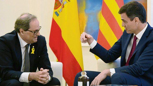 Torra y Sánchez se reunieron más de dos horas en Madrid.