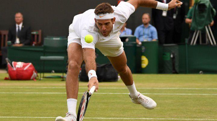Del Potro le ganó a Simon y pasó a cuartos en Wimbledon