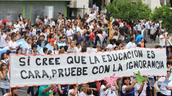 Una de las protestas de los docentes universitarios.