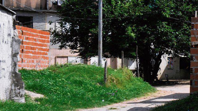 Pasillo. El lugar donde mataron a Andrés Farías en diciembre de 2015.