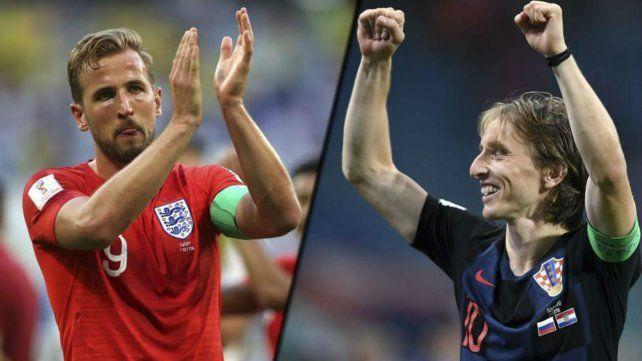 Inglaterra y Croacia, dos estilos reconocibles