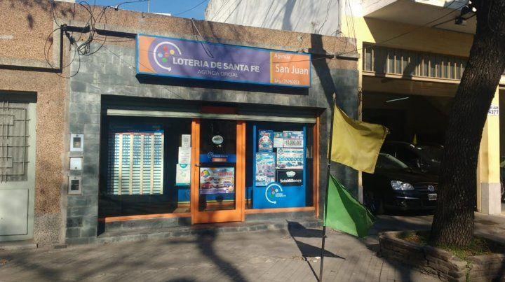 La agencia de San Juan 4300 que vendió el billete ganador.