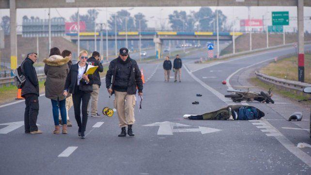 El tránsito en Circunvalación estaba cortado tras producirse el accidente.