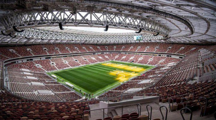 El remozado estadio Luzhniki