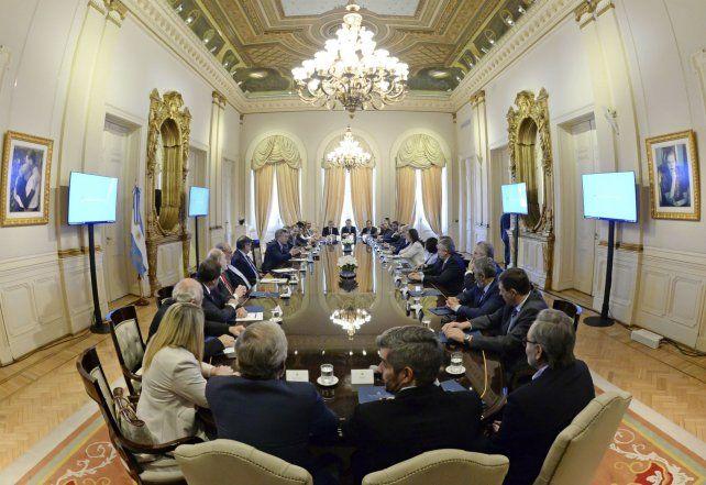 la previa. Esta semana el jefe del Estado abrió el diálogo con los gobernadores de Cambiemos.