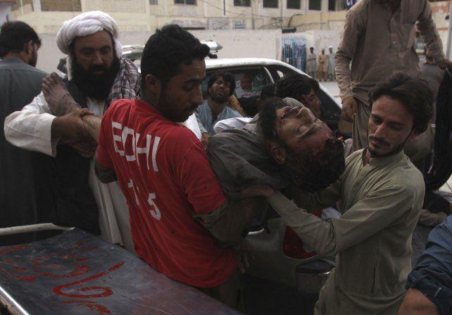 Horror. En el ataque resultaron heridas un centenar de personas.