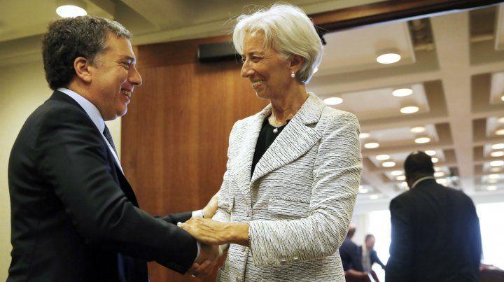 A la orden. El ministro Nicolás Dujovne y la jefa del FMI