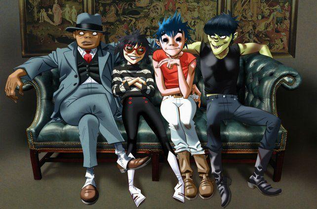 Detrás de los personajes animados de Gorillaz están Damon Albarn y el dibujante Jamie Hewlett.