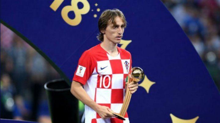 El croata Luka Modric fue elegido como mejor jugador del Mundial