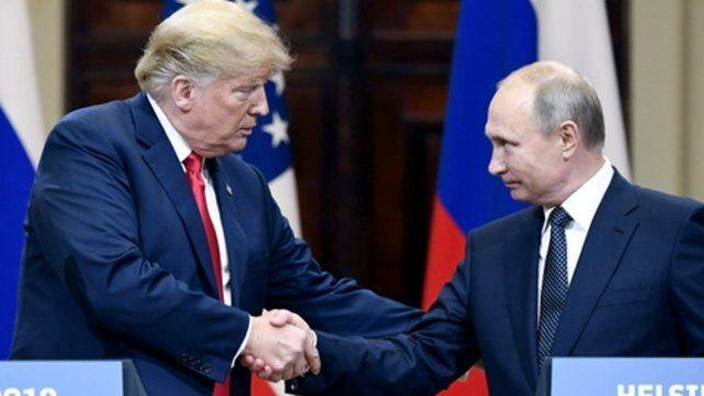 El encuentro. Trump y Putin se reunieron el lunes a solas en Helsinki