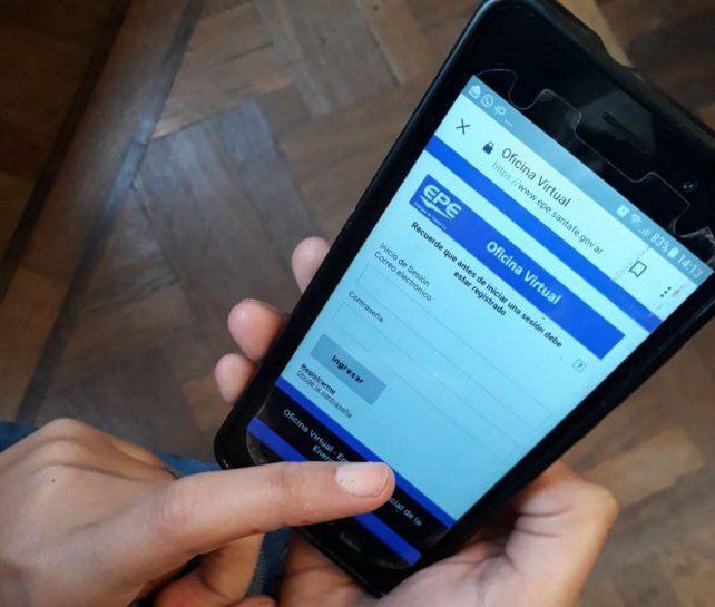 Ahora podés consultar en la oficina virtual de la EPE desde tu celular.