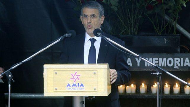 Entidad. El presidente de la Amia renovó su pedido de justicia.