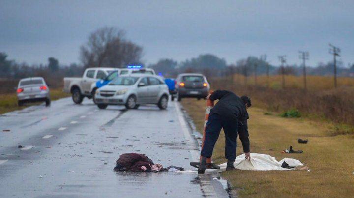 El impacto fue frontal y provocó la muerte inmediata del motociclista.