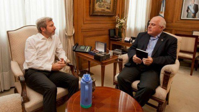 Frigerio y Lifschitz. El gobierno nacional continúa la ronda de negociaciones con gobernadores para reducir el déficit.