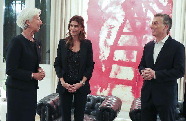 Lagarde mantuvo varias reuniones y luego cenó con Macri