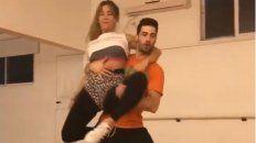 De cara al Bailando, Jimena Barón ensaya y se ríe de sí misma