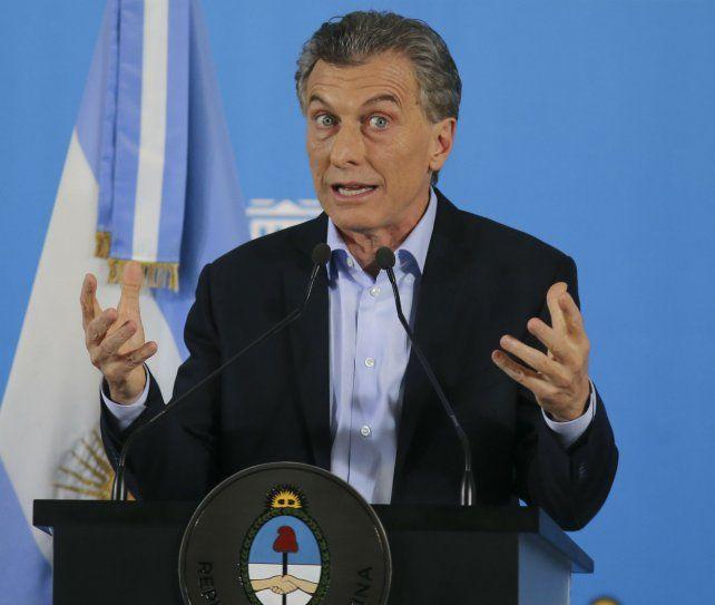 Con la prensa. Macri salió a hablar