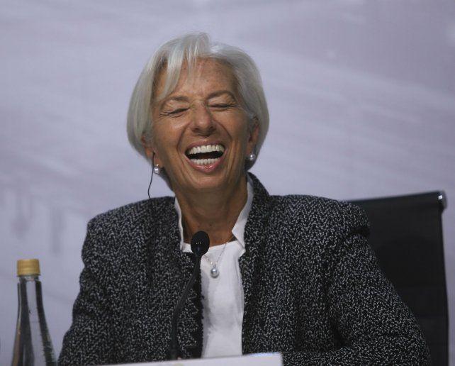 Chisrtina Lagarde es optimista de que la Argentina alcance las metas fiscales y económicas.