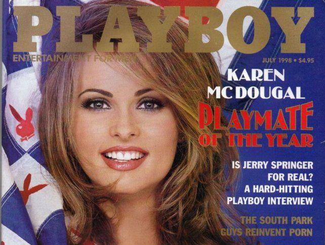 Tapa de revista. McDougal fue una de las conejitas más célebres de los 90.