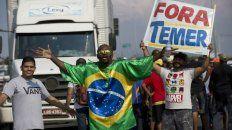 Malestar. Una reciente protesta de camioneros pidió la renuncia de Temer.