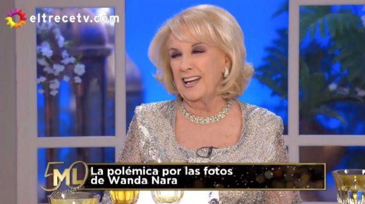 Mirtha: Fui testigo de la noche entre Maradona y Wanda