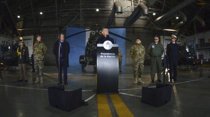 El jefe del Estado anunció el inicio de una reforma del Sistema de Defensa Nacional.