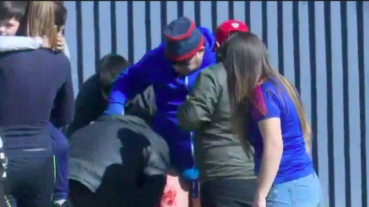 Tres heridos en un tiroteo en la práctica de Universidad de Chile