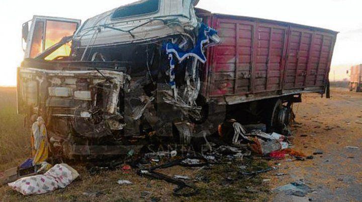 En la ruta 91. El siniestro del camión ocasionó una de las víctimas fatales.