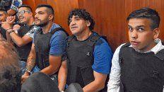 Discusión. Guille Cantero (de anteojos), Leandro Vilches, Máximo Cantero  (no apelará) y Ramón Machuca, condenados en abril pasado.