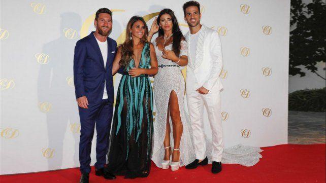 Las fotos de Antonela y Messi en la boda de Daniella Semaan y Fábregas