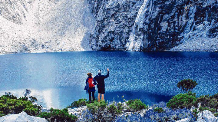 Cerca del cielo. La Laguna 69 está ubicada a 4.600 metros sobre el nivel del mar en la provincia de Yungay