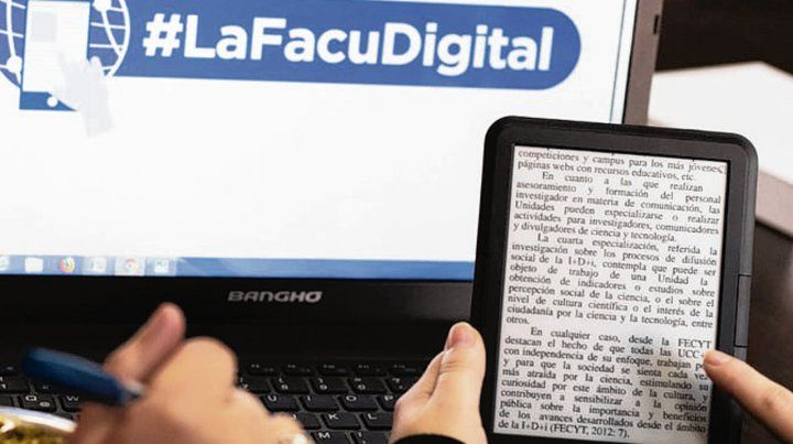 Facu digital. La iniciativa resonó en otras facultades del país.