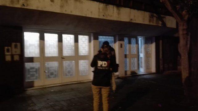 La casa de Zeballos al 2500 que fue atacada esta noche por dos desconocidos en moto.