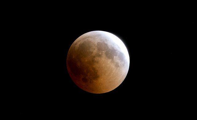 El eclipse lunar se podrá ver en la parte oriental de América del Sur.