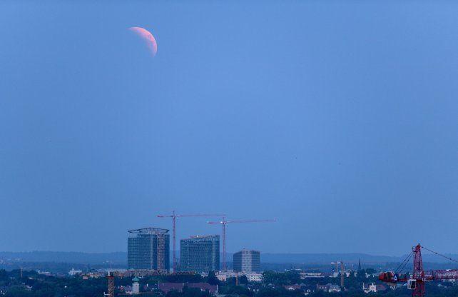 Así se veía el eclipse de Luna en Munich