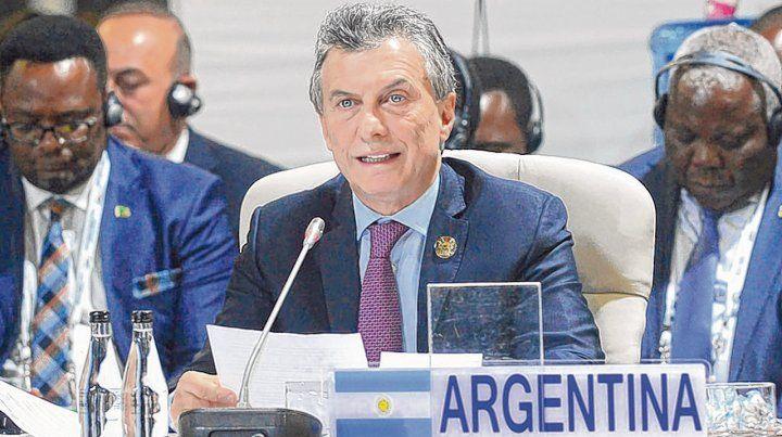 Disertante. El presidente argentino participa en Sudáfrica de la X Cumbre de los Brics.