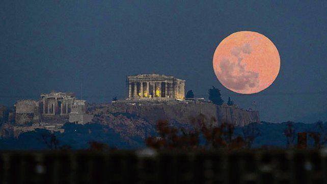 enorme. La Luna de sangre