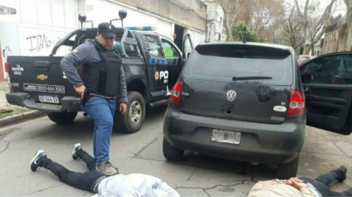 Los delincuentes al ser detenidos en la zona de Pichincha