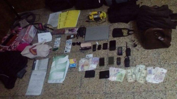 El material probatorio que fue secuestrado en poder de los ladrones.