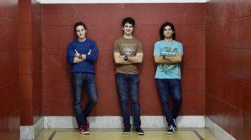 Representantes. Ignacio Lembo, Juan Recoaro y Lucas Díaz compitieron desde el 21 de julio hasta ayer.