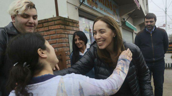 Gobernadora. Vidal recorrió el interior bonaerense buscando recuperar la iniciativa perdida por la crisis.