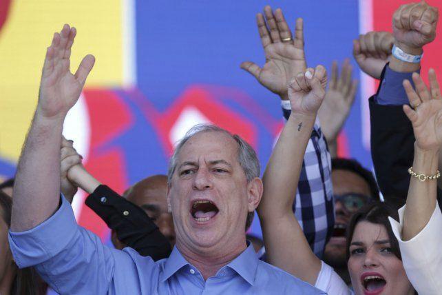 En carrera. El candidato de centroizquierda Ciro Gomes